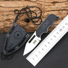 Hot Necklace Survival Knife SOG Fixed 440 Steel Blade Knife G10 Handle Huntting Tactical Knives Camping Outdoor EDC Tools X19