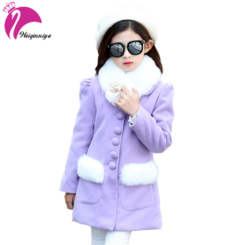 Winter Baby Girls Clothes Faux Fur Infant Coat Warm Kids Jacket Snowsuit Outerwear Enfant Children Kids Clothes 2017 winter new clothes to overcome the coat of women in the long reed rabbit hair fur fur coat fox raccoon fur collar