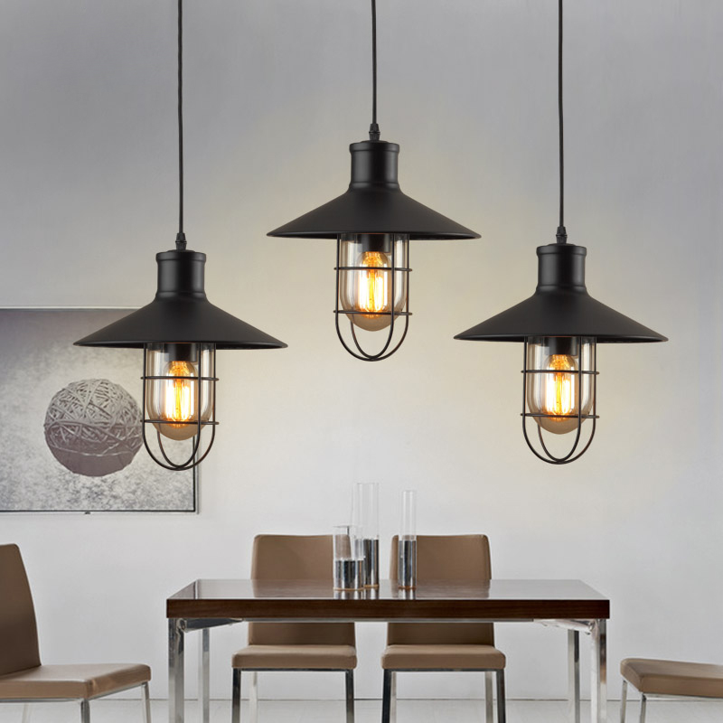 ФОТО Loft Industrial Warehouse Pendant Lights American Country Lamps Vintage Lighting for Restaurant kitchen dining pendant lamp