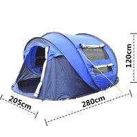 COOLWALK Новый раскладывающийся тент наружные автоматические палатки метание всплывающие водонепроницаемые походные палатки водонепроницае