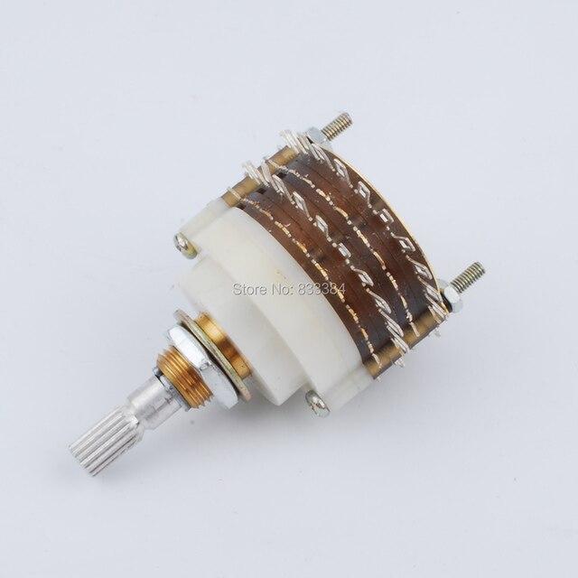 Бесплатная доставка Новый 1 шт. 2 полюса 23 шаг поворотный переключатель аттенюатор регулятор громкости потенциометр DIY