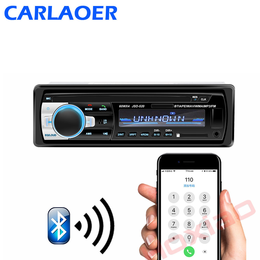Bluetooth Autoradio 12V Car Stereo Radio FM Aux-IN Input Receiver SD USB In-dash 1 Din Car MP3 Multimedia Player
