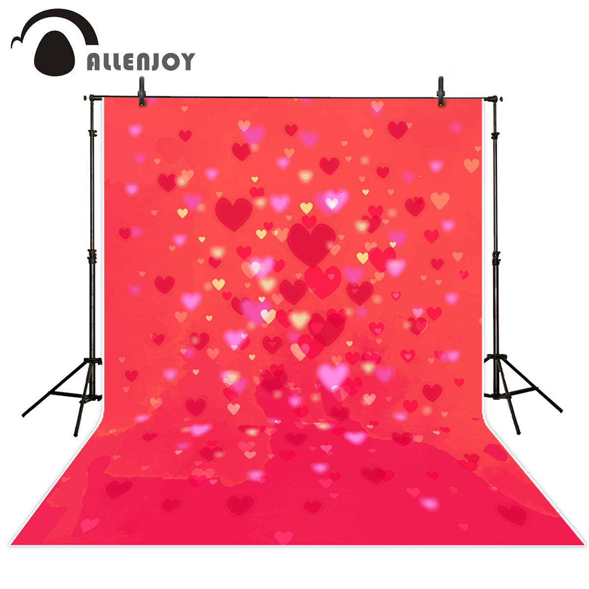 Allenjoy photography backdrops Valentine's Day love hearts pink bokeh shiny wedding photo background vinyl for photo studio allenjoy photography backdrops love pink romantic background photography wedding backdrop for valentine s day