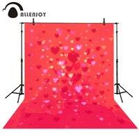 Allenjoy Photography Backdrops Valentine S Day Love Hearts Pink Bokeh Shiny Wedding Photo Background Vinyl For