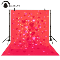 Allenjoy Photography Backdrops Valentine S Day Love Hearts Pink Bokeh Shiny Wedding Photo Background Vinyl For