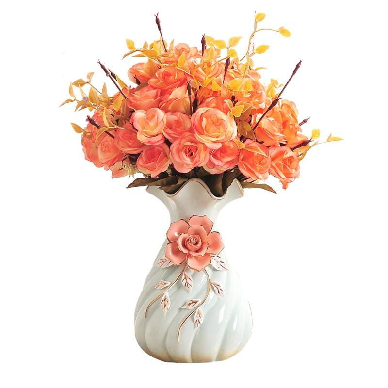 Fresh Mini Ceramic Small Vase Home Decor Gift Ideas And: European Small And Fresh Ceramic Vase Creative Ornaments