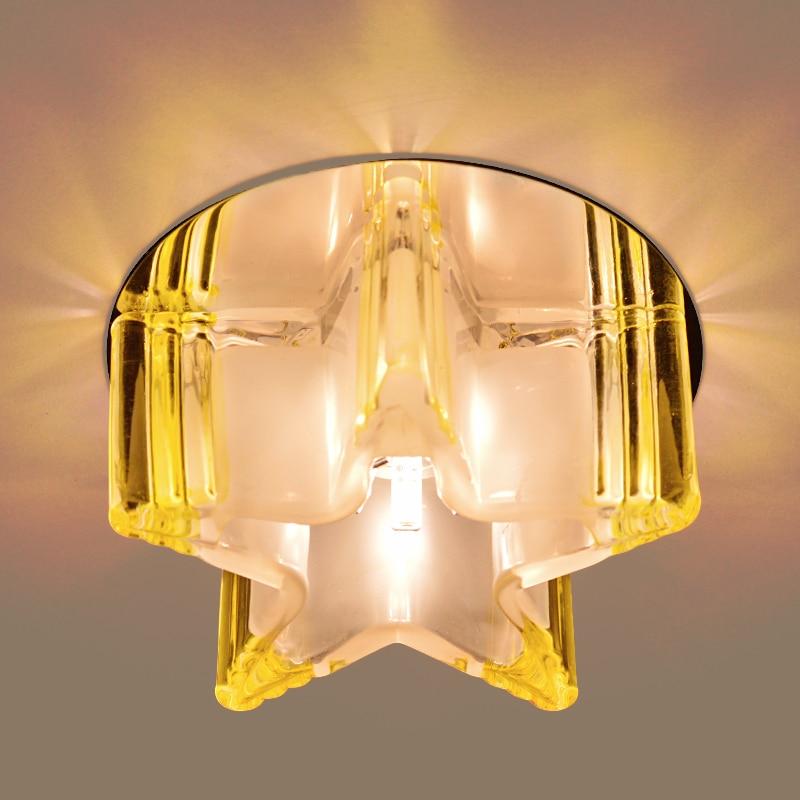 Modern Yang Singkat Dipimpin Kristal Ruang Tamu Pencahayaan Tempat Lampu Balkon Koridor Untuk Chandelier Rumah Abajur 220 240v In Ceiling Lights From