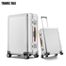 """Seyahat masalı 20 """"26 inç 100% alüminyum haddeleme bagaj bavul spinner trolly çanta seyahat için"""