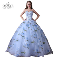 2018 New Fashion Ball Gown Evening Dress Long Prom Dresses Robe de Soiree Beaded Sweetheart 3D Print Flower Formal Gowns