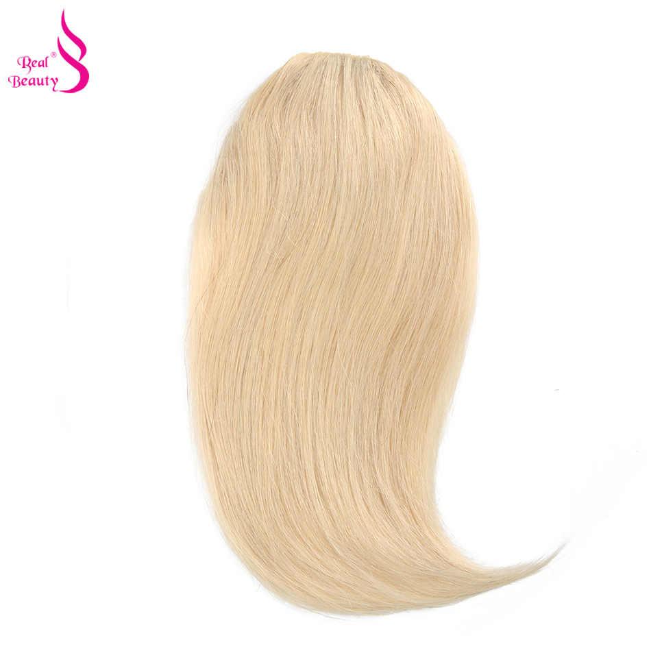 Настоящая красота, прямые человеческие волосы на заколках, китайские волосы Remy для наращивания, челка 20 грамм, натуральный черный цвет, 100% натуральная бахрома