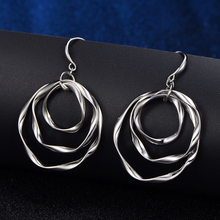 Copper Metal Mix Colors Round Circles Drop Earrings For Women Elegant Fashion Earrings Jewelry Pendientes Gold Silver Colors New colors for fashion