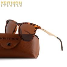 KEITHION Classic Square Polarized Sunglasses Women Brand Designer Vintage Driving Fashion Rivet Mirror Sun Glasses UV400