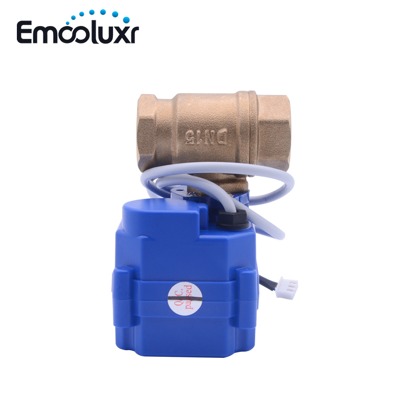 CWX-15Q Electric Brass Valve BSP Motorized Crane For Water Leak Alarm System WLD-805,WLD-806