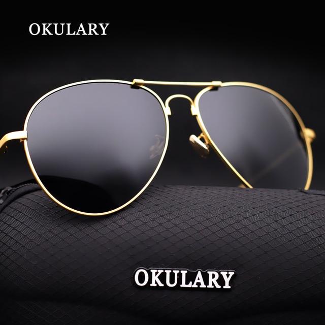 581e8c1ba8 OKULARY Polarizadas piloto Aviador de la vendimia gafas de sol hombres  mujeres primera marca de lujo