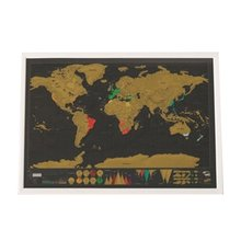 Get more info on the Scratch Map World Map Semi-manual Hanging Gilt Sheet Fashion Creative Complex Geographical Detail Black Background 2019 New