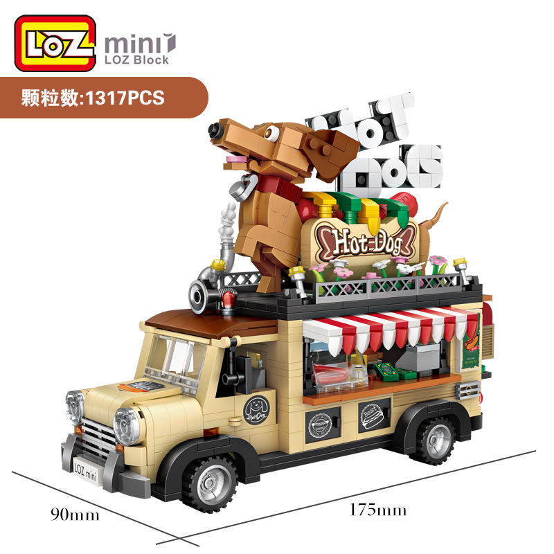 LOZ Mini Blocks New Hot Dog Car Model Building Bricks for Children Funny toys for Kids brinquedos Create Boy Gifts 1116 Ferrari F40