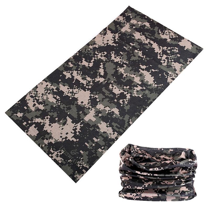 buffe Tactical Mask Camouflage Hiking Hunting Head Scarf Camo Headband Cycling Face Shield Bandana Mask Hijab Women Men Headwear