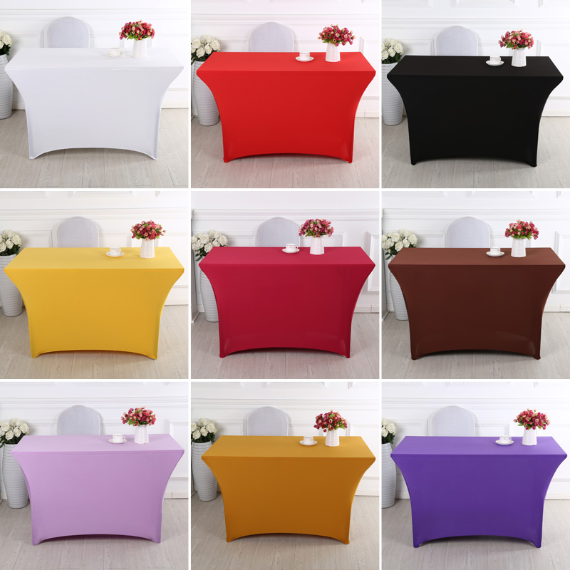 Wedding Spandex Table Cloth Lycra Table Cover Table Linen Hotel Banquet Party Meeting Room Rectangle Table Decoration