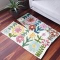 Многофункциональный цветочный напольный коврик из хлопка для кухни  дверной коврик  милый коврик для ванной комнаты  декоративный коврик д...