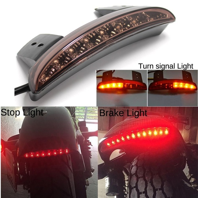 Back To Search Resultshome Motorcycle Lights Rear Fender Edge Red Led Brake Tail Light Motocycle For Touring Sportster Xl 883 1200 Cafe Racer Fine Quality