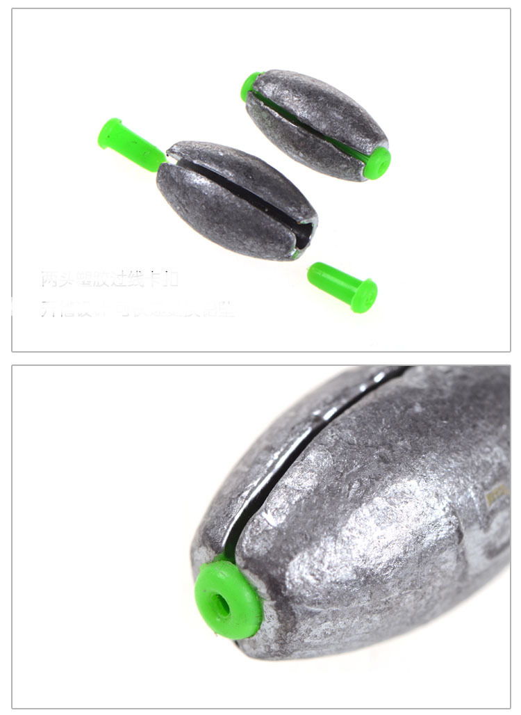 Image 5 - Quick Lead Sinker Fishing Lure Accessories Olive Shaped Middle Pass leads Sea Boat Rafting Rod Parts 3 55g  1 5 Pieces Bag-in Fishing Tools from Sports & Entertainment