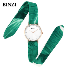 2017 Luxury Watch Women Creative Ladies Watches Colorful Strap Quartz Watch Simple Relogio Feminino BINZI