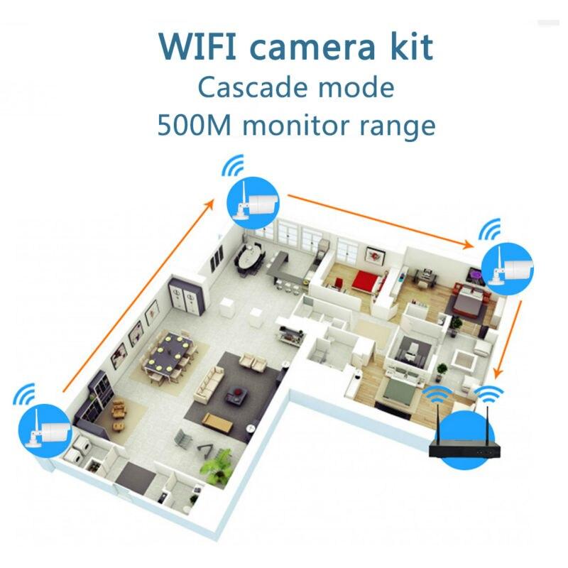 CCTV Sistemi 1080 P 4CH HD Kablosuz cctv kiti 2MP IR Güvenlik IP - Güvenlik ve Koruma - Fotoğraf 2