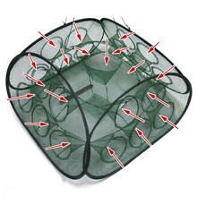 Porous design trap type cage collapsible Fishing Net fishing cage lobster scutellaria crab Fishing supplies fishing free shiping(China)