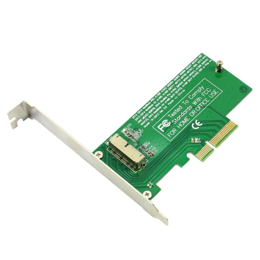 XT-XINTE PCI-Express PCIE PCI-E To 4X Adapter Card SSD Convert Card For Mac Air Pro 2015 2014 2013 A1398 A1502 A1493 A1465