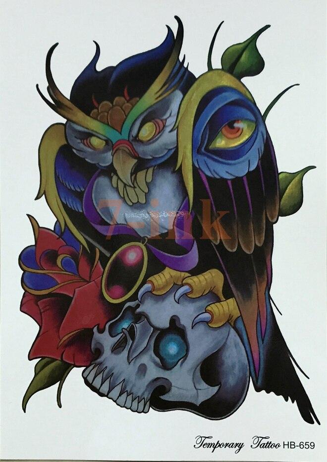 Diabo Anjo Nu Taty Tatuagem Temporária Body Art 12 20 Cm Do Flash