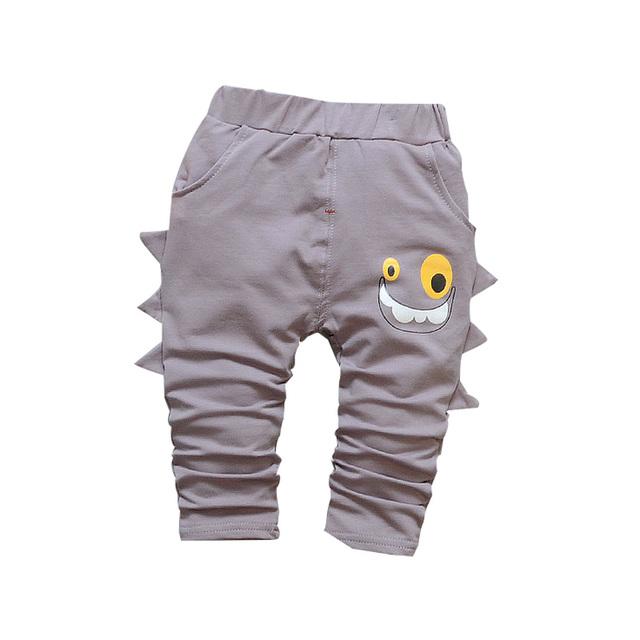 Children wit calças do bebê primavera/outono nova algodão tubarão dos desenhos animados bebê Harém pants1 peça 1-4 anos de bebê meninos/meninas calças