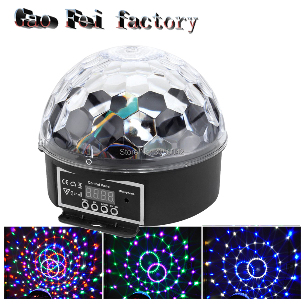 Mini RGB 20W 6 LED Crystal Magic Ball Stage Effect Lamp Bulb Party Disco DJ