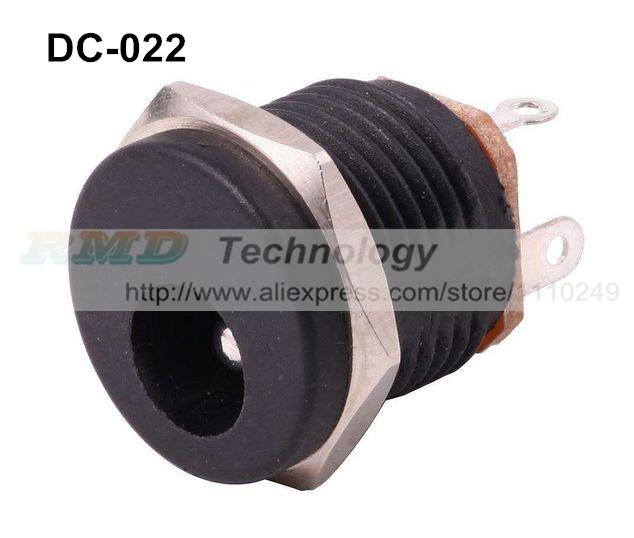 10pcs/lot DC Power adapter dc jack connector DC022 5.5 X 2.5, 2.1 mm free shipping cain