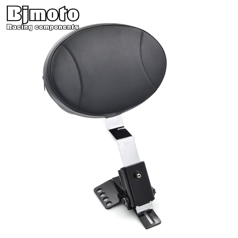 цены BJMOTO PU Leather Motorcycle Adjustable Plug In Driver Rider Backrest Kit Pad For Harley Touring Electra/Road/Street/FLHXXX