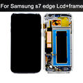 100% испытано Нет Dead Pixel Для Samsung Galaxy S7 edge G935FD G935F ЖК-Дисплей с Сенсорным Экраном Дигитайзер Ассамблеи + рамка