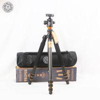 QZSD Q999C углеродное волокно Professional камера штатив монопод стенд и шаровой головкой для Canon Nikon DSLR телефон лучше, чем Q999