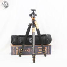 Cheaper QZSD Q999C Carbon Fiber Professional Camera Tripod Monopod Stand & Ball Head For Canon Nikon DSLR Camera Phone Better than Q999