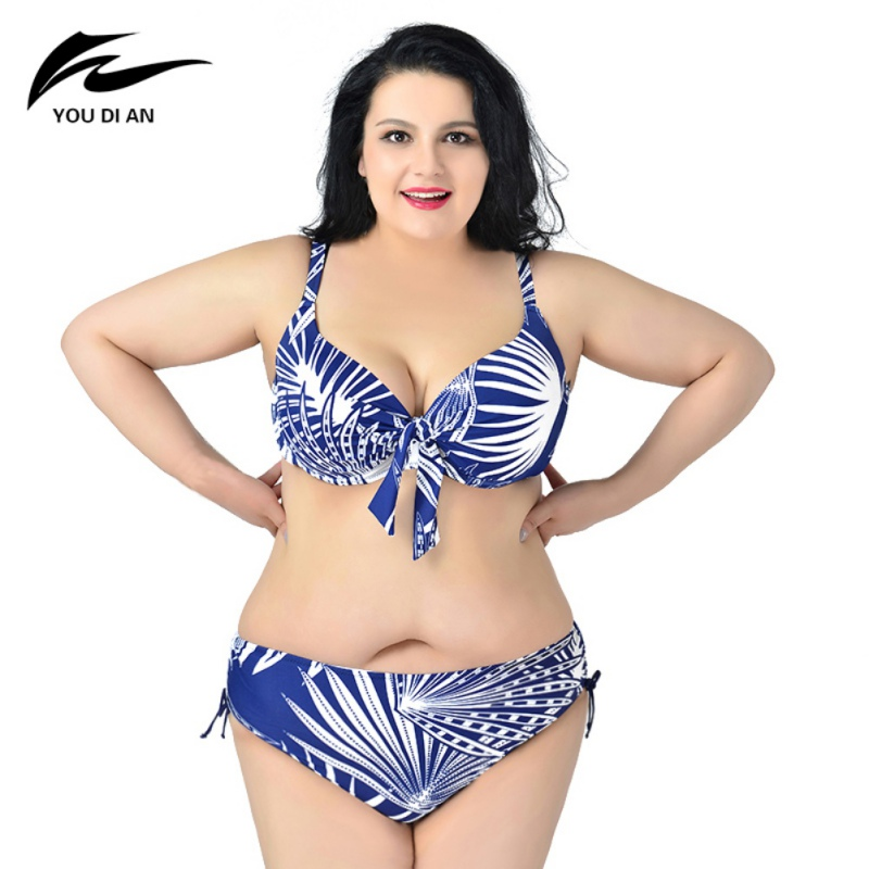 Bikinis Set Sports & Entertainment 2 Pcs/set Big Size Swimsuit Printed Flower Hot Push Up Plus Size Bikini Large Size 2xl To 6xl Fat Swimwear Bikinis Set