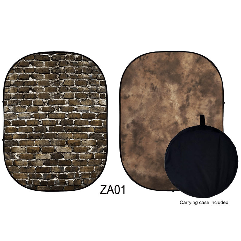 Toile de fond Double face en mousseline, fond pliable mat, sans plis, lavable, sac de fond de photographie inclus 5X6. 5ft