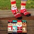 Algodão coreano cute & baixo beleza kawaii boneco de neve de natal meias mulheres meias de algodão de Moda menina dos desenhos animados das senhoras meias