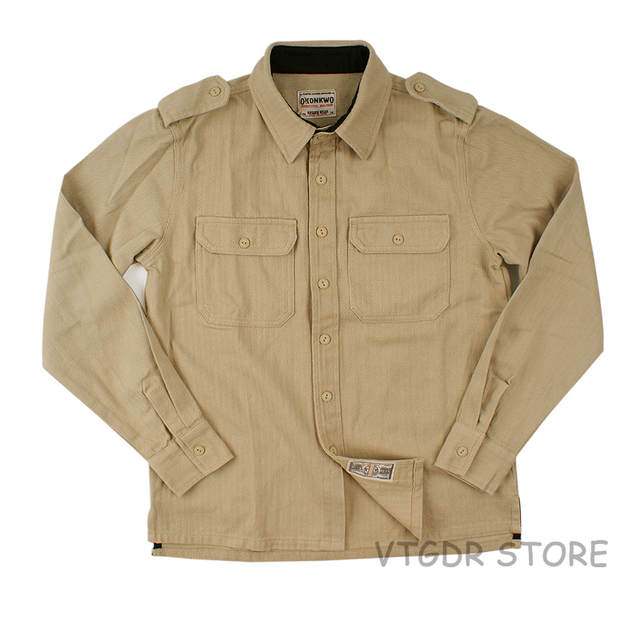 f913c8414aa Men s HBT Engineer Work Shirts Long Sleeve Plain Pocket Casual Shirt Jackets