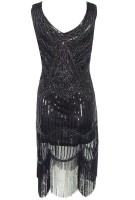 MILLYN Women 1920s Vintage Sequin Inspired Flapper Cocktail Party Dress Celebrity Party Dresses