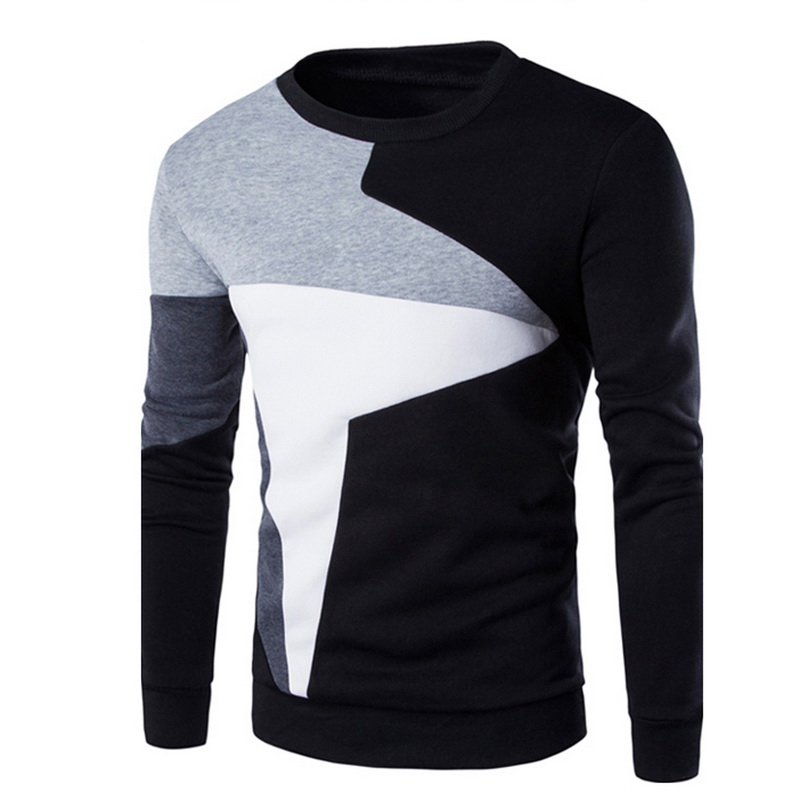 SHUJIN Sweatshirt Men Pullover Spring Slim-Fit O-Neck Long-Sleeve Warm Autumn Fashion