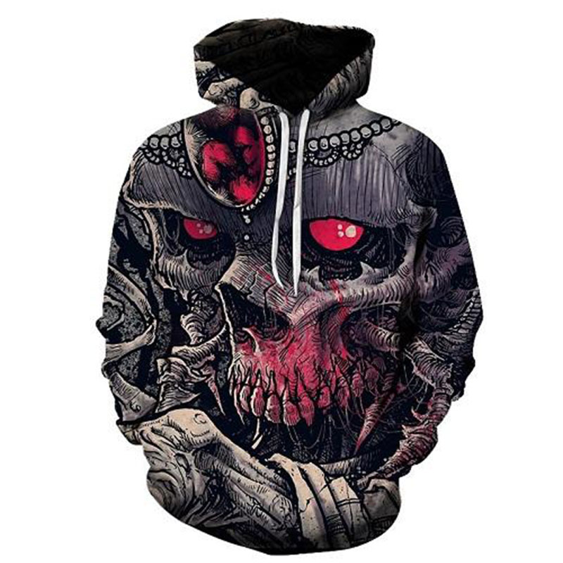 Cloudstyle New Design Mens Hoodies 3D Print Red Gem Hooded Tree Monster Pullovers Male F ...