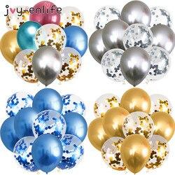 10pcs 12inch Metallic Balloons Metal Latex Balloon Birthday Party Decoration Wedding Balloons Gold Inflatable Helium Balloon