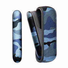 JINXINGCHENG 4 Colors Camouflage Leather Case for iqos 3.0 Pouch Case and Side Cover Holder Box Protective Shell Accessories