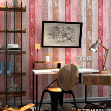 Colorful Vintage Wood Wall Papers Home Decor for Living Room  Barber Shop Bar Decoration Wallpapers Mural Papel Pintado