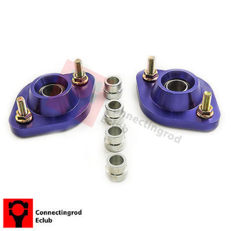 2pc REAR PILLOW BALL PLATES Camber Plate Set for BMW E30 E36 E46 Z3 Top mount for bmw 3 series e36 318 328 323 325 front coilover strut camber plate top mount green drift front domlager top upper mount