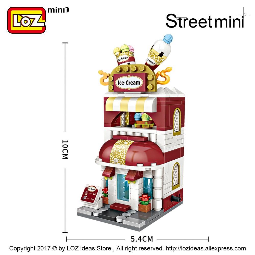 LOZ City Street 1644 Pink Sweet Candy Store Shop Mini Blocks Nano Building Toy