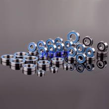 Bearing-8 RC CAR Remote Control Parts For RC Model REVO 3.3 Racing Ball Bearing KIT 39PCS Metric Blue Rubber Sealed cyt 6205rs sealed ball bearing for motorcycle black silver